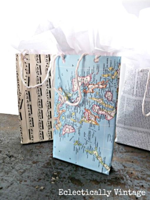 gift wrap - diy bags