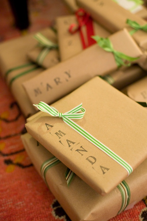 gift wrap - stamps