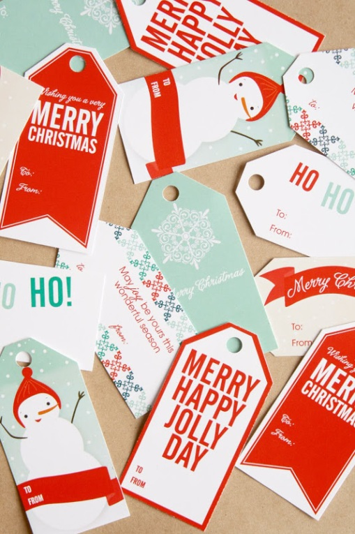 gift wrap - tags